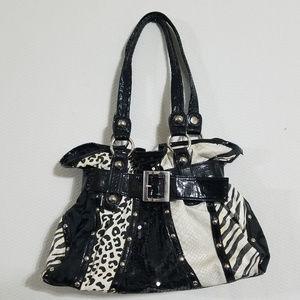 Chateau Zebra Animal Print Hobo Bag Purse Handbag